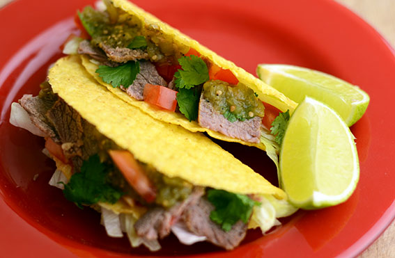 Salted Beef Tacos