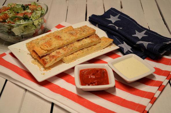 Breadsticks mit Dips