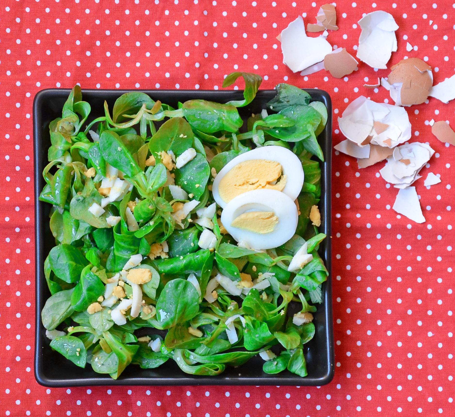 Feldsalat mit Ei