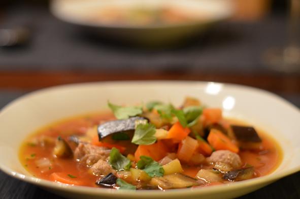Minestrone // Italienische Gemüsesuppe
