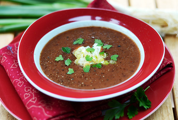 Rote-Bohnen-Suppe