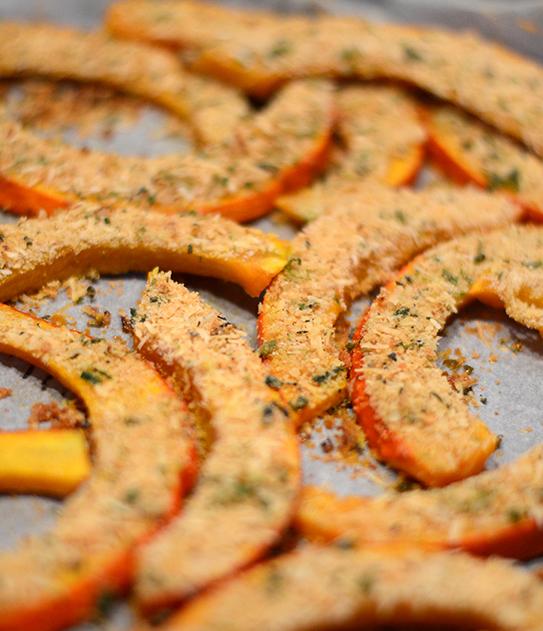 Kürbisspalten mit Kräuter-Käse-Kruste nach Ottolenghi