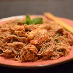 Vietnam Nudeln mit dreierlei Kostbarkeiten