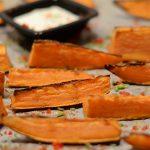 Süßkartoffelwedges mit Limettendip nach Ottolenghi