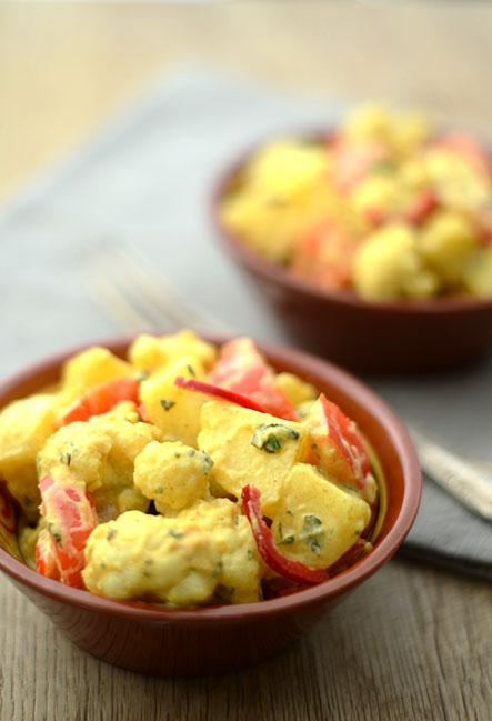 Indischer Kartoffelsalat