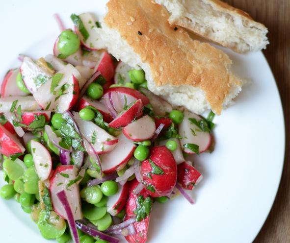 Radieschen-Bohnen-Salat nach Ottolenghi
