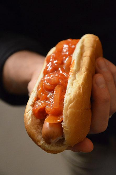 Hotdog_Zwiebelsoße