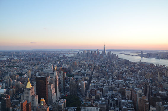 New York City Empire State Building bei Nacht