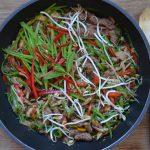Rindfleisch mit Asia-Frühlingsgemüse