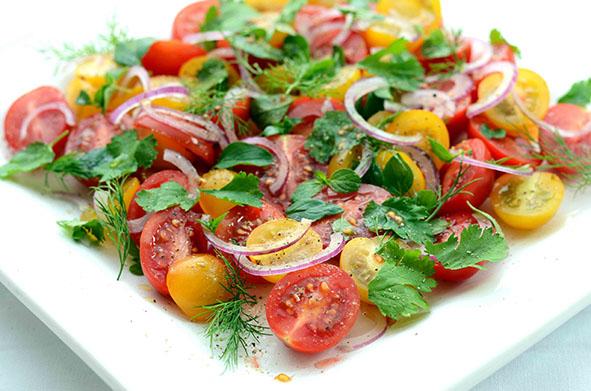 Außergewöhnlich Tomaten-Kräuter-SalatLöffelgenuss @IT_09