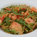 Tomaten-Linguine mit Garnelen und Rucola nach Jamie Oliver
