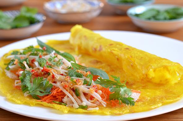 Vietnamesische Pfannkuchen nach Ottolenghi