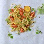 Fenchel-Zitronen-Spaghettini im Päckchen