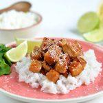 Limetten-Kokos-Hähnchen auf Ingwer-Reis