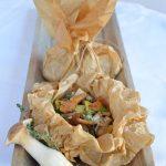 Pilze im Pergamentpäckchen