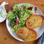 Ofenkartoffeln mit Rauchsalz